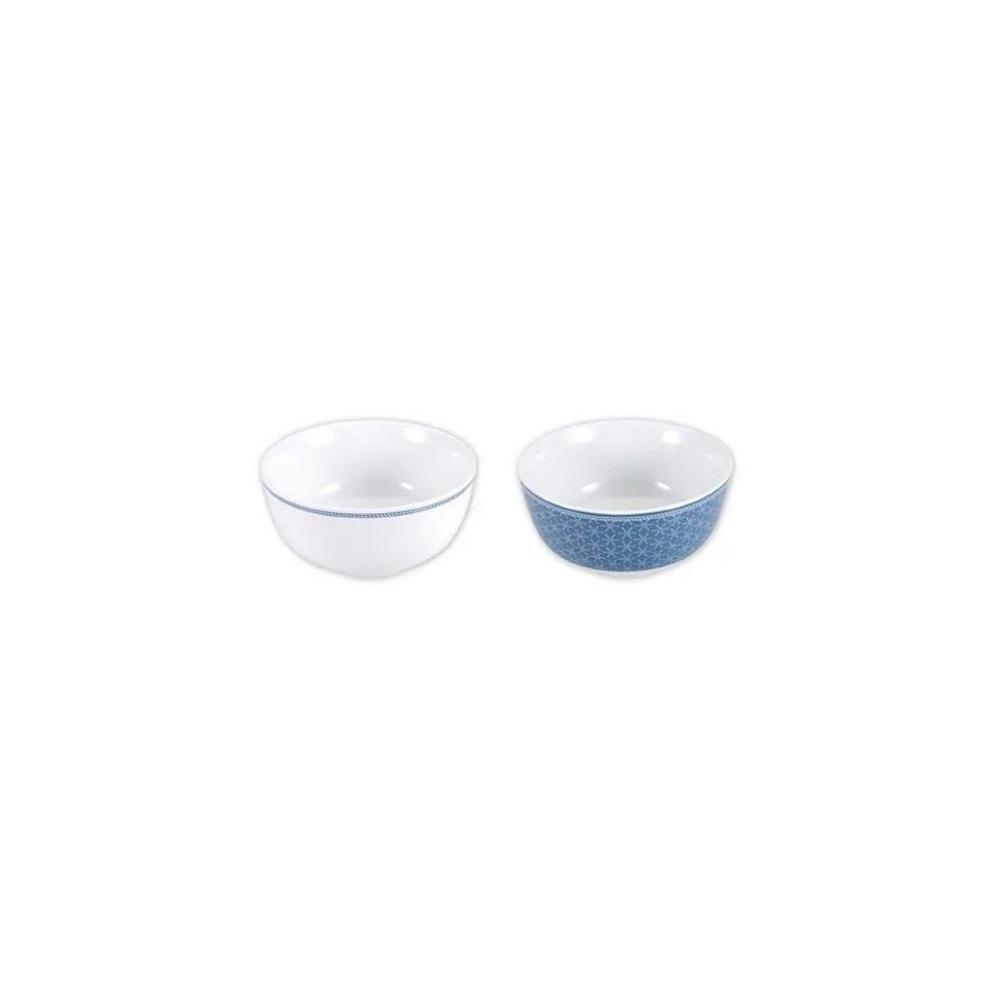 Set of bowls Infinity Chefs Essence Blue Porcelain (4 uds)