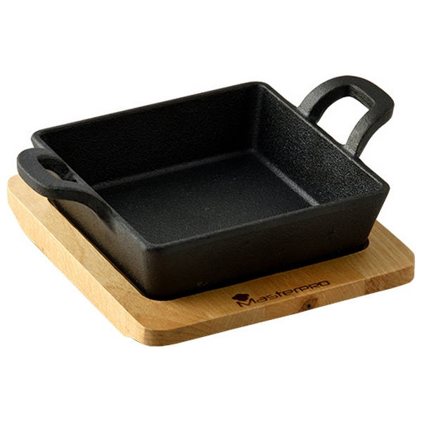 Baking tray Masterpro Black Cast Iron (12,6 x 18,5 x 3,6 cm)