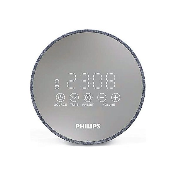 Radio Despertador Philips TADR402/12 FM Gris