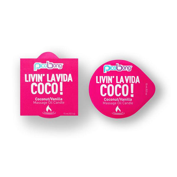 Coconut & Vanilla Massage Oil Candle PicoBong 7038