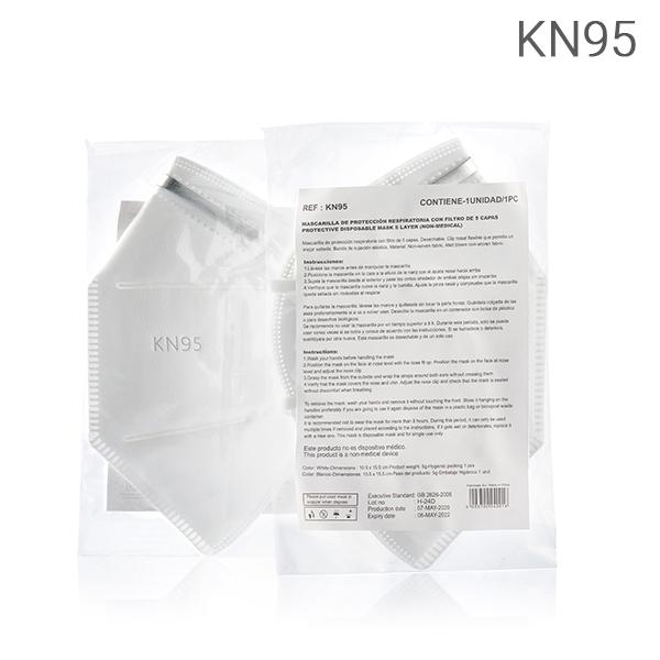Mascarilla Autofiltrante de 5 Capas KN95 (Pack de 50) (1)