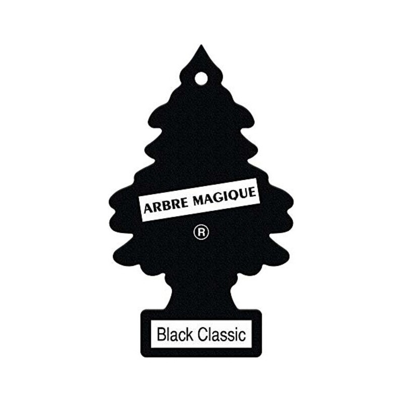 Car Air Freshener Black Classic Pinewood