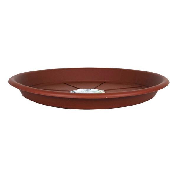 Flower Pot Dish Green Time Plastic Brown (Ø 32 cm)