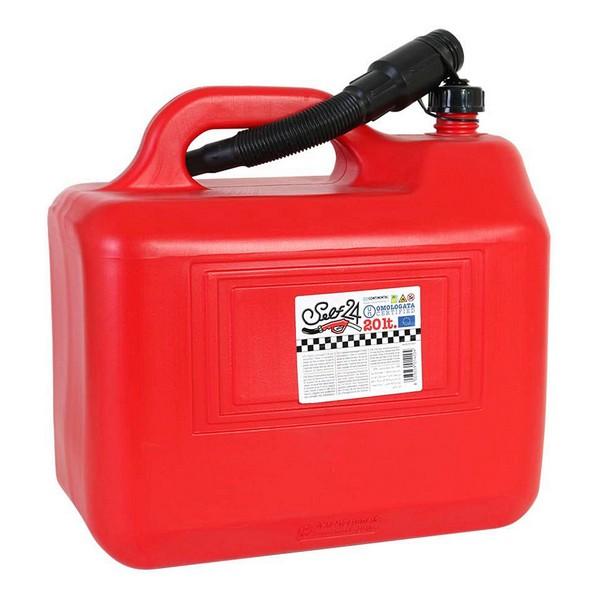 Tanque para Combustible con Embudo Self 20 L Rojo