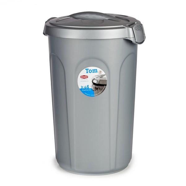 Bucket 46 L Grey Plastic (44 x 60 x 40 cm)