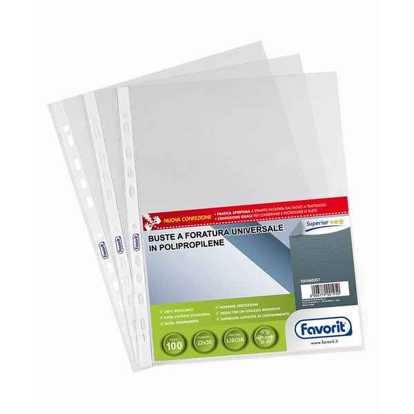 Covers Drilled Transparent (22 x 30 cm) (Refurbished D)