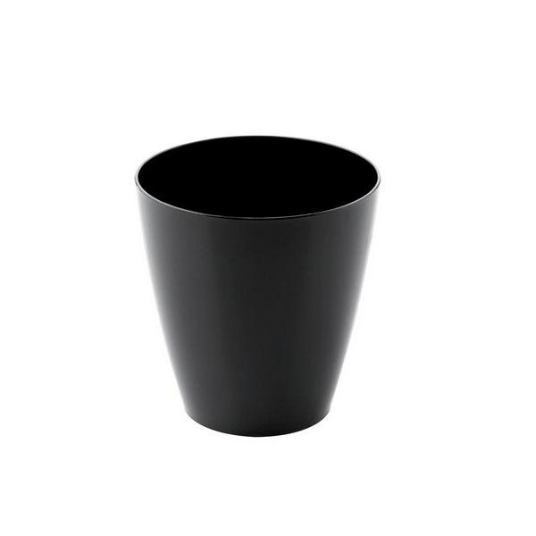 Set of glasses Goldplast Plastic Black 60 ml (25 Pieces)