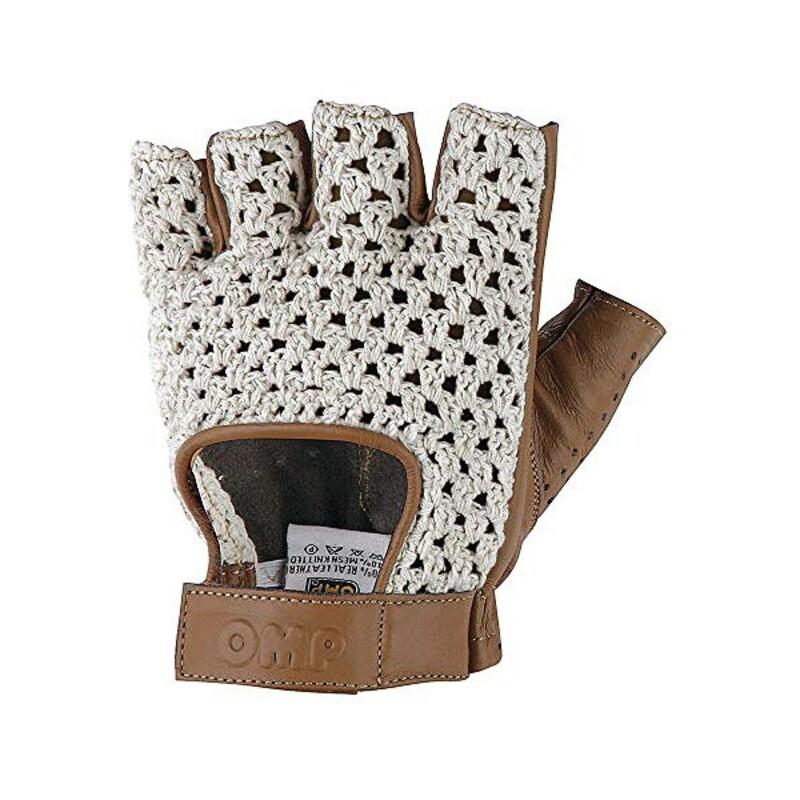 Men's Driving Gloves OMP Tazio Brown
