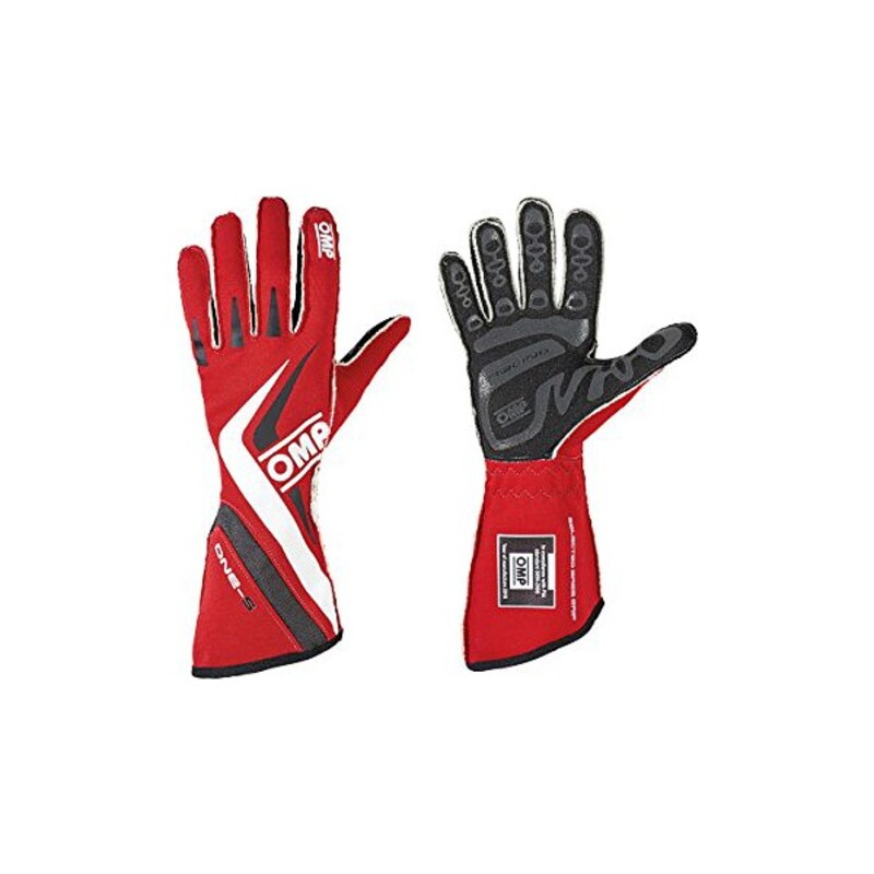Men's Driving Gloves OMP One-S MY2016 Red