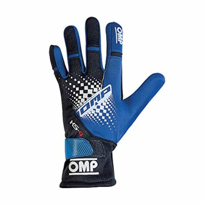 Kids Karting Gloves OMP MY2018 Blue Size 6