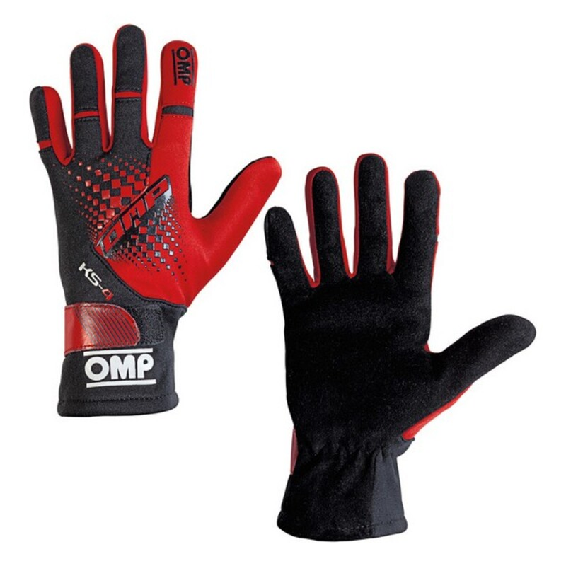Children's Driving Gloves OMP MY2018 Red Black