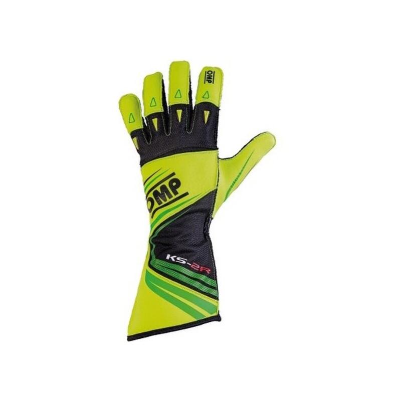 Karting Gloves OMP KS-2R Yellow