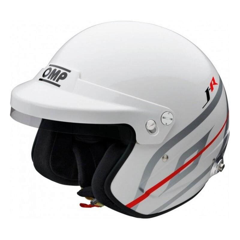 Helmet OMP J-R Hans Karting White
