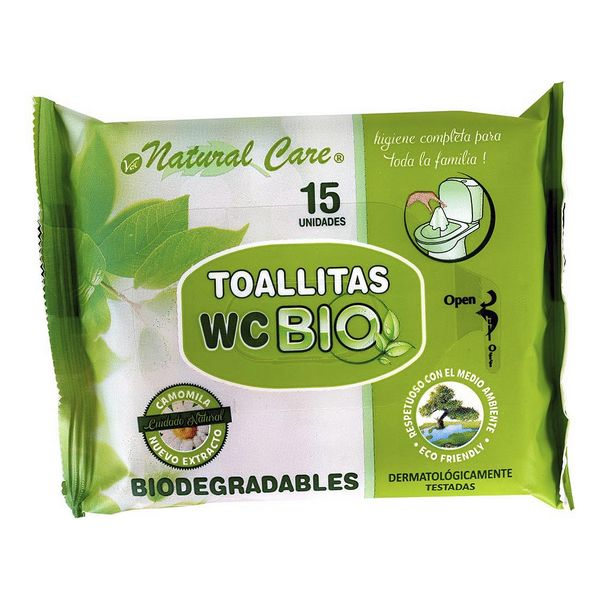 Biodegradable Wipes Wc (15 uds)