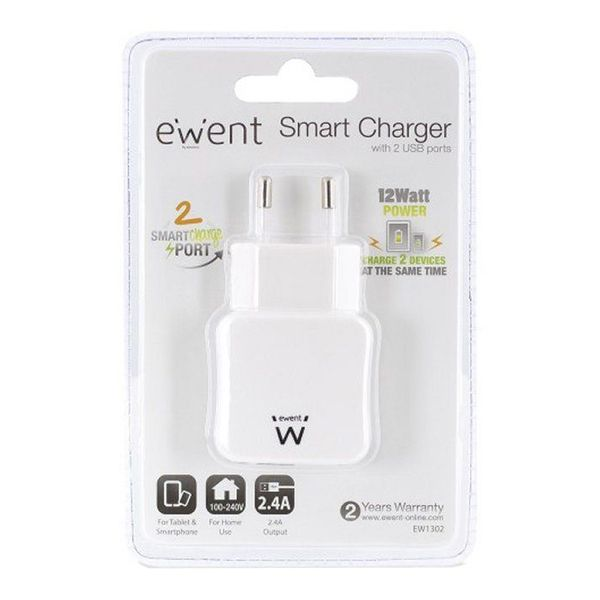 Wall Charger 2-in-1 Ewent EW1302 5V 2.4A 12W Computers Electronics