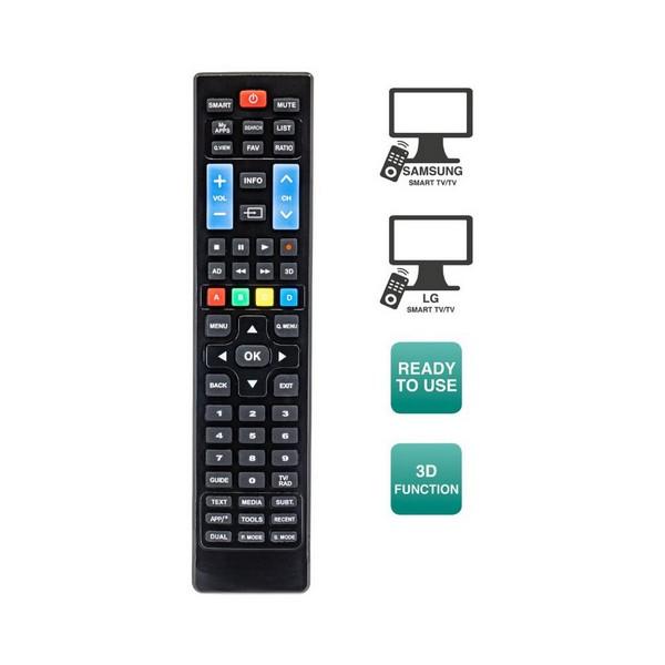 Mando a Distancia para Smart TV Ewent EW1575 Negro