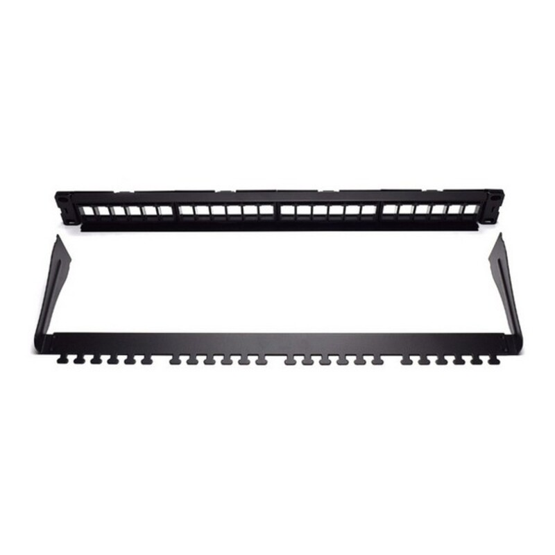 24-port UTP Category 5e/6/6e Patch Panel WP WPC-PAN-BUP24 Black