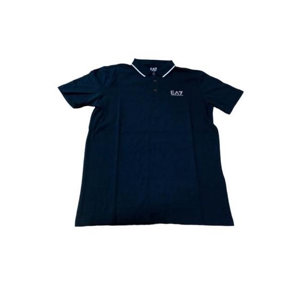 Men's Short Sleeve Polo Shirt Armani Jeans 3GPF51 Navy blue