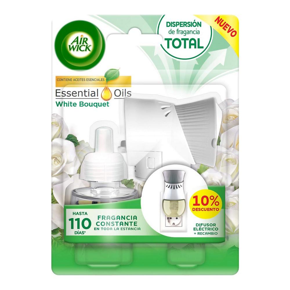 Electric Air Freshener + Refill Essential Oils Air Wick White Bouquet (19 ml)