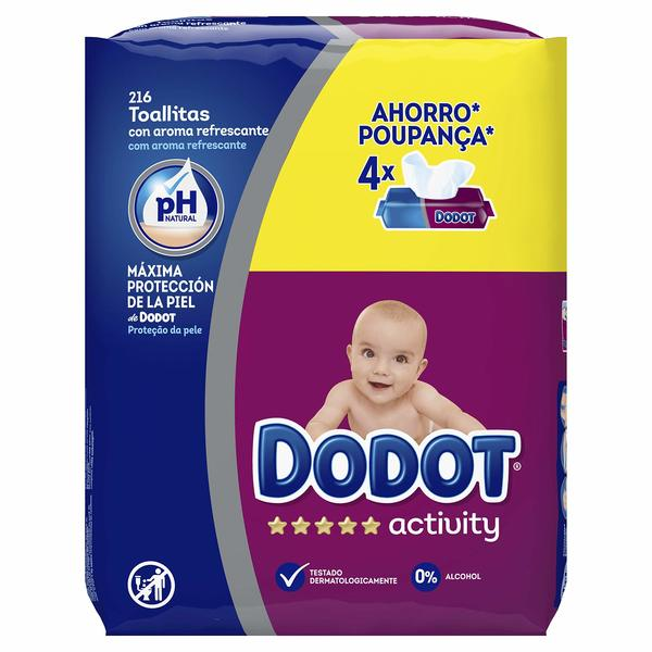 Scented Wet Wipes Dodot Activity (pack of 4) (Refurbished A+)