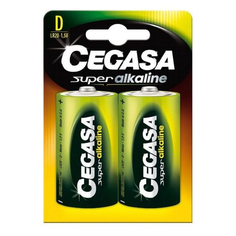 Alkaline Batteries Cegasa LR20 D 1,5V (2 uds)