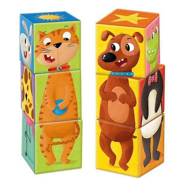 Bucket set Match & Mix Goula animals (6 Pieces)