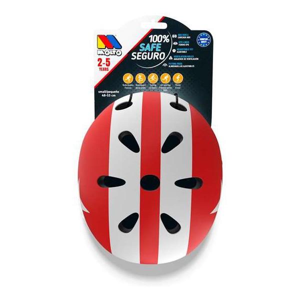 Baby Helmet Moltó White Red 48-53 cm