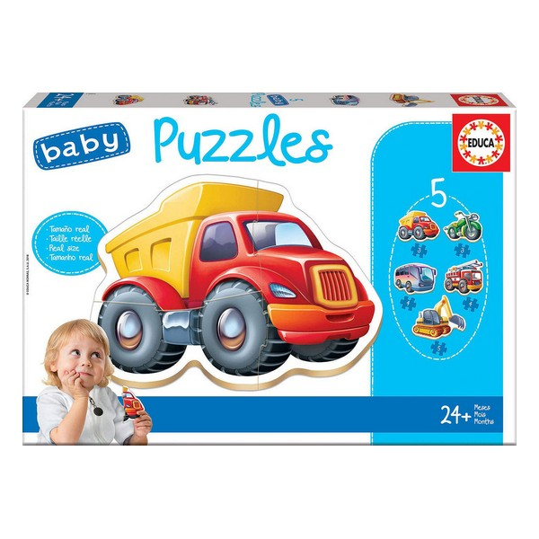 5-Puzzle Set Baby Educa Cars