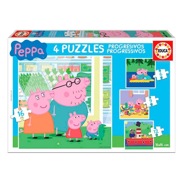 4-Puzzle Set Peppa Pig Educa