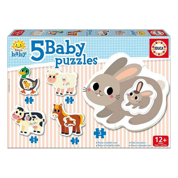 5-Puzzle Set Baby Farm Educa