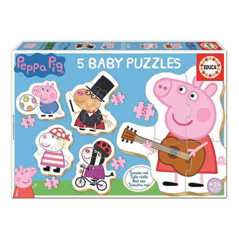 5-Puzzle Set Peppa Pig Educa