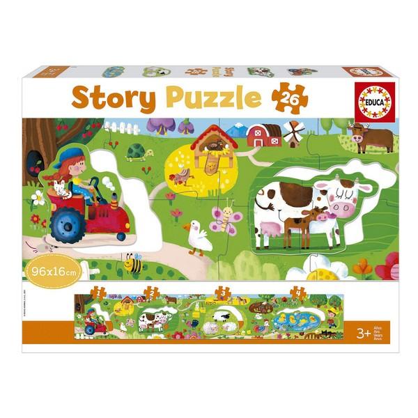 Baby Farm Puzzle Story Educa (26 pcs)