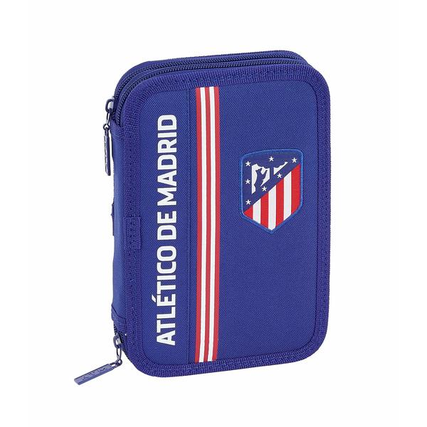 Double Pencil Case Atlético Madrid Navy Blue (34 Pieces)