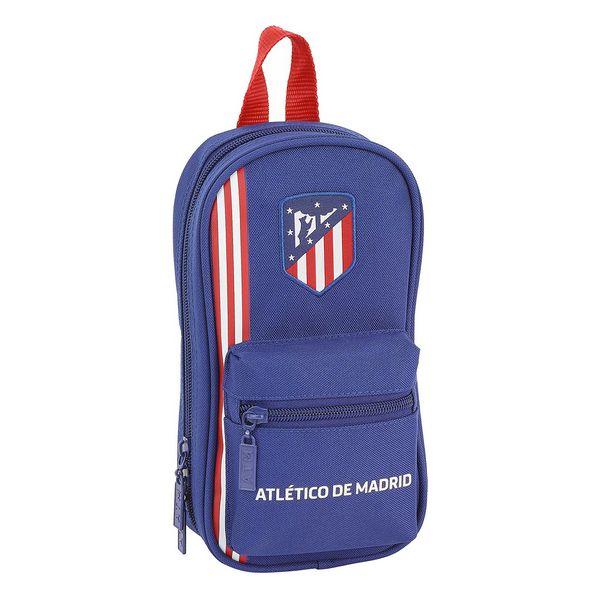 Backpack Pencil Case Atlético Madrid Navy Blue (33 Pieces)