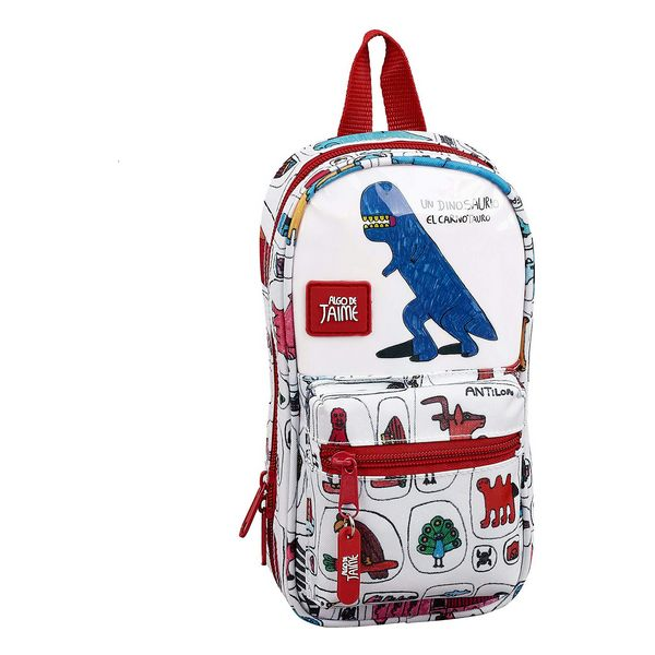 Backpack Pencil Case Algo de Jaime White (33 Pieces)