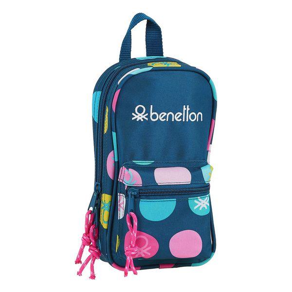 Backpack Pencil Case Benetton (33 Pieces)