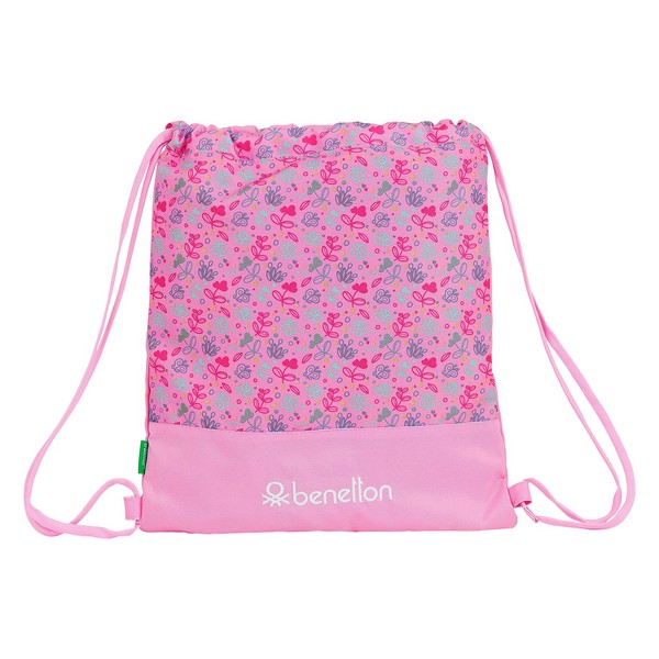 Backpack with Strings Benetton Butterflies