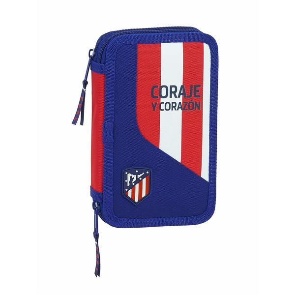 Double Pencil Case Atlético Madrid Blue (28 pcs)