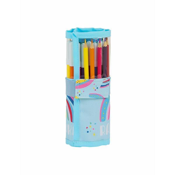 Double Pencil Case Glow Lab Rainbow (27 Pieces)