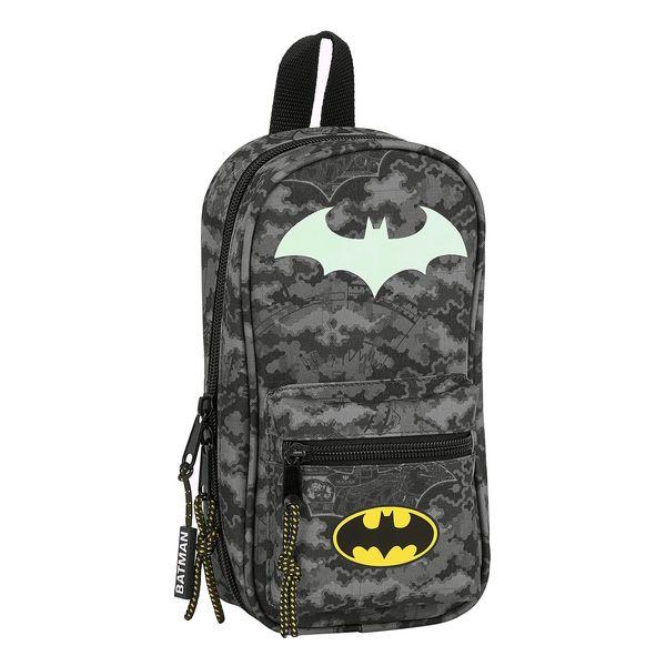 Backpack Pencil Case Batman Night Black Grey