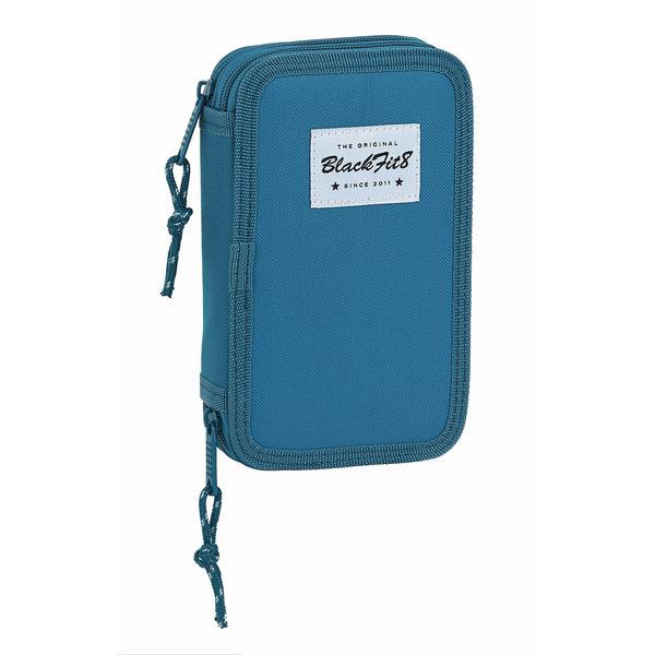 Double Pencil Case BlackFit8 Egeo Blue (28 pcs)