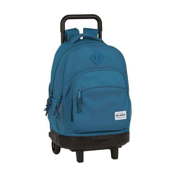 School Rucksack with Wheels Compact BlackFit8 Egeo Blue