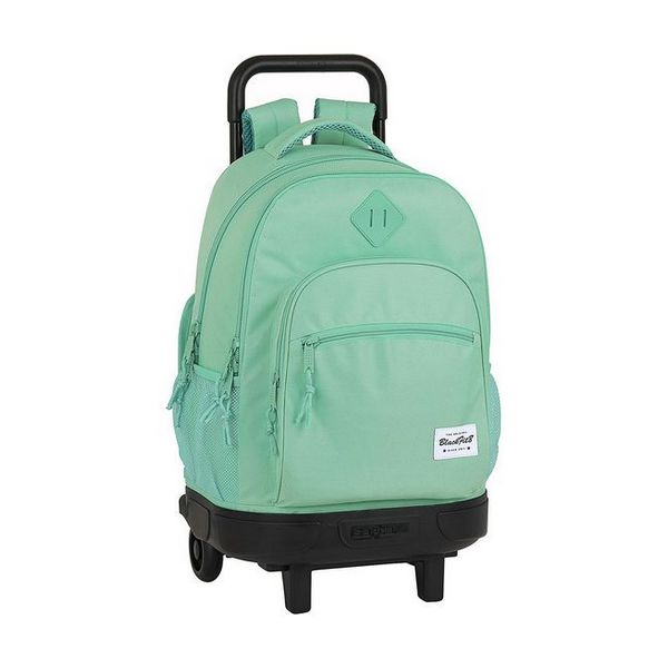 School Rucksack with Wheels Compact BlackFit8 Turquoise
