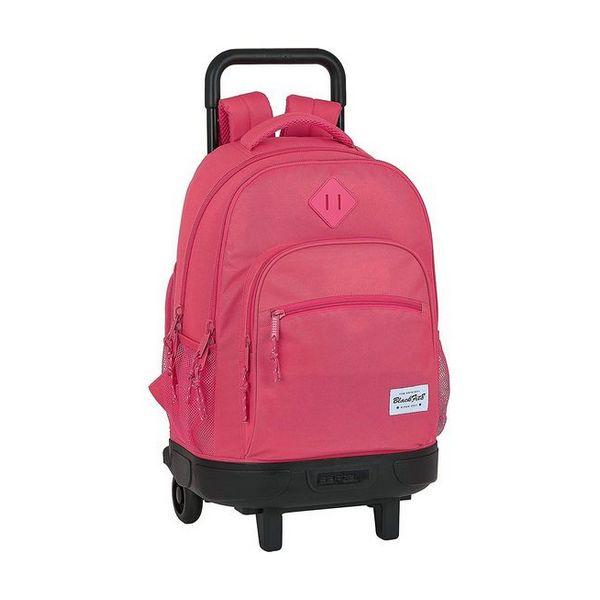 School Rucksack with Wheels Compact BlackFit8 Pink