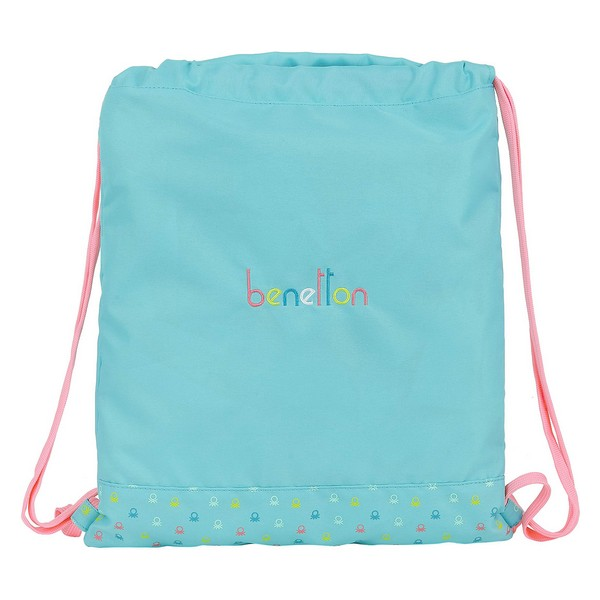 Backpack with Strings Benetton Candy Light Blue
