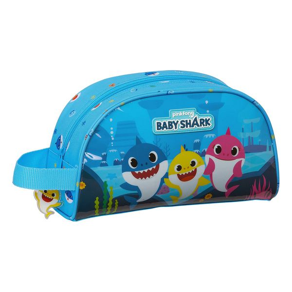School Toilet Bag Baby Shark Light Blue