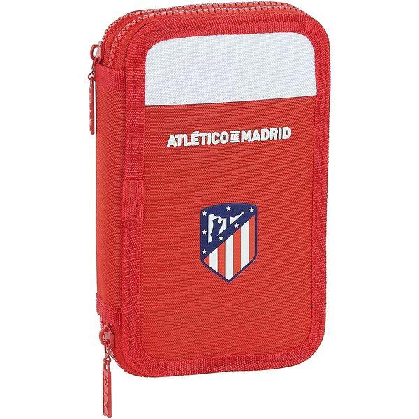 Double Pencil Case Atlético Madrid White Red (28 pcs)