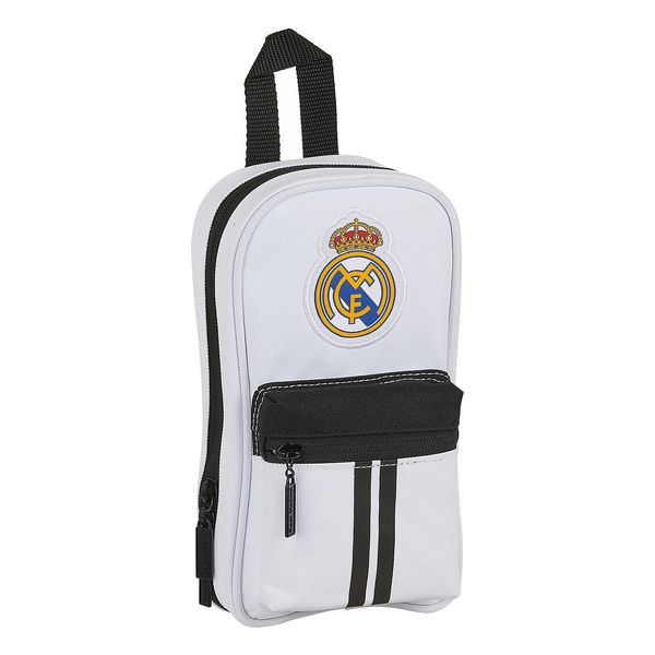 Backpack Pencil Case Real Madrid C.F. 20/21 White Black