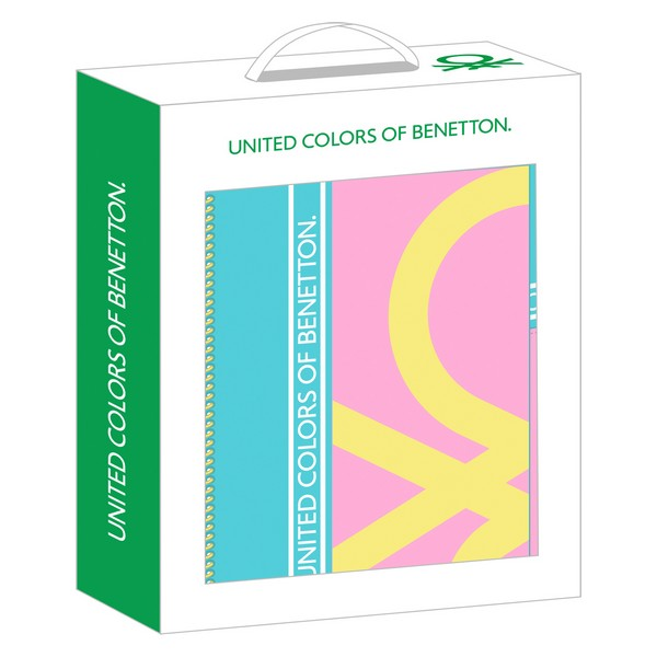 Gift Set Benetton Color Block Small Yellow Pink Turquoise