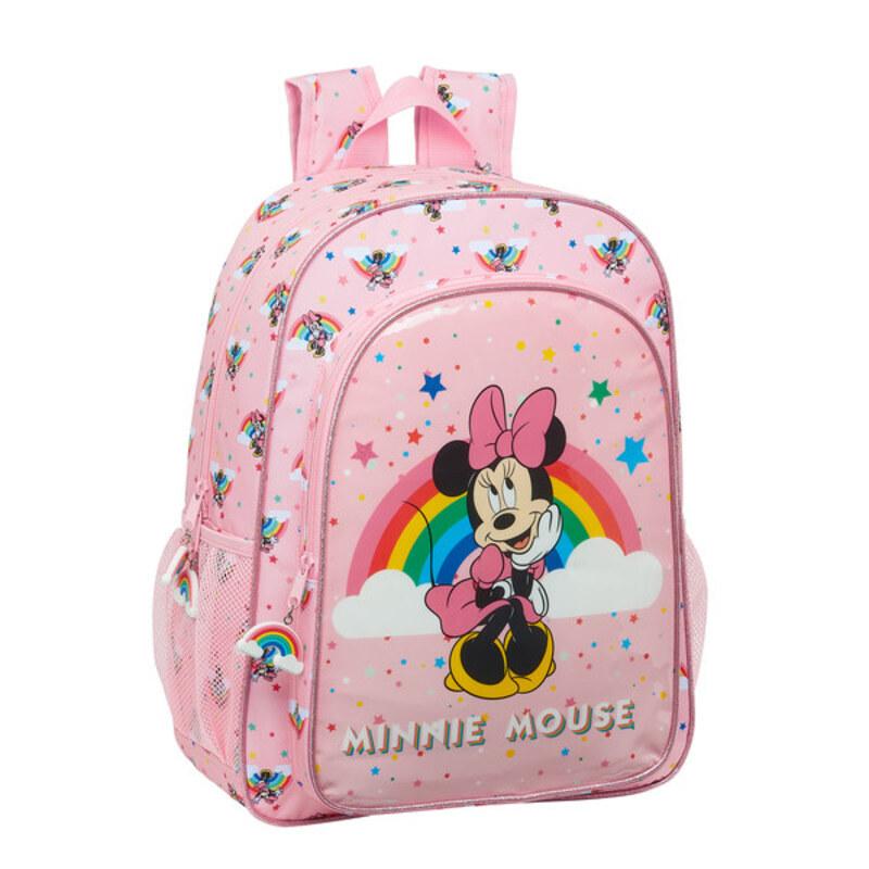Child bag Minnie Mouse Rainbow Pink (33 cm)